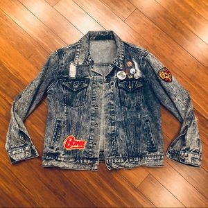 Jackets & Blazers - Custom distressed acid wash denim jacket